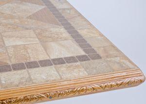 багет из дерева на журнальном столе из керамогранита