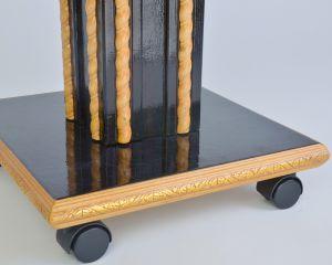 дизайн ножки журнального стола тёмного цвета