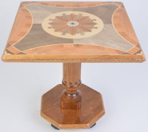 дешёвый журнальный стол на колёсиках из керамогранита