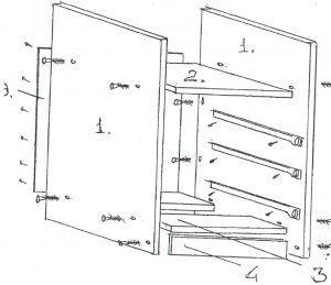 схема сборки тумбы для стола