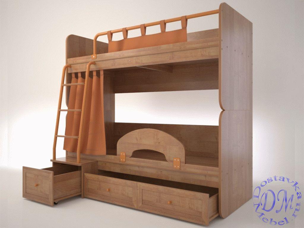 Двухярусная кровать немо комплект с матрасами натяжная простыня на матрас купить